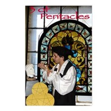 3 of Pentacles Postcards (Package of 8)