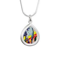 rect_mag2 Silver Teardrop Necklace