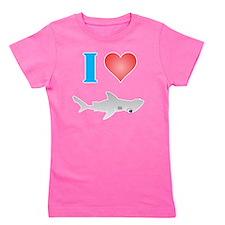 I Love Hammerhead Sharks Girl's Tee