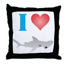 I Love Hammerhead Sharks Throw Pillow