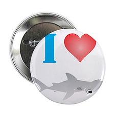"""I Love Hammerhead Sharks 2.25"""" Button"""