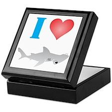 I Love Hammerhead Sharks Keepsake Box