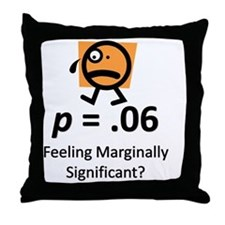 Feeling Marginally Significant? Throw Pillow