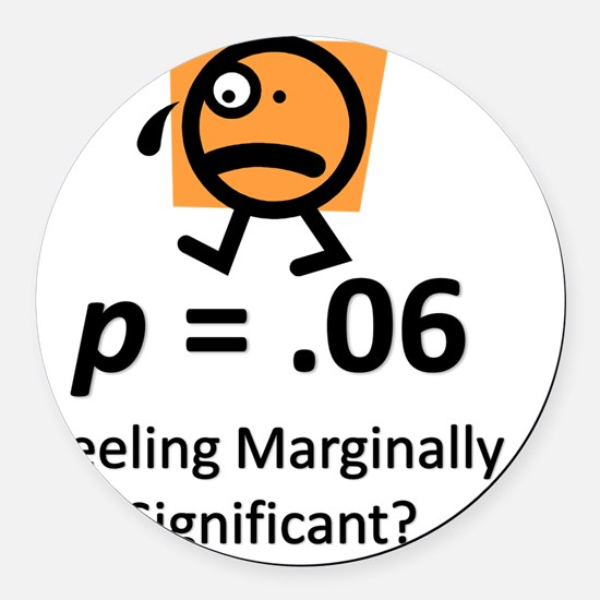 Feeling Marginally Significant? Round Car Magnet