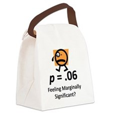 Feeling Marginally Significant? Canvas Lunch Bag