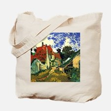 Villages Street in Auvers Tote Bag