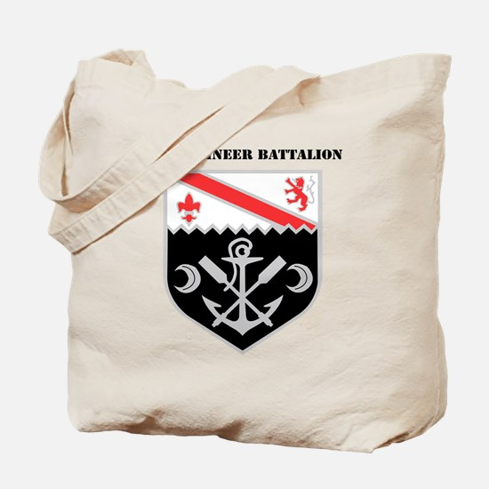 DUI - 1st Engineer Battalion with Text Tote Bag
