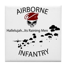 airborne infantry Tile Coaster
