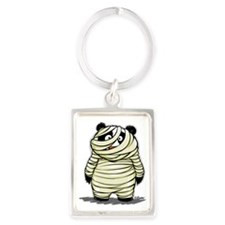 Panda Mummy Portrait Keychain