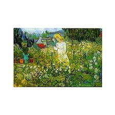 Marguerite Gachet in the Garden Rectangle Magnet
