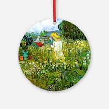Marguerite Gachet in the Garden Round Ornament