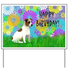 Birthday Jack Russell Terrier Yard Sign