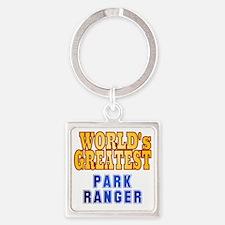 World's Greatest Park Ranger Square Keychain