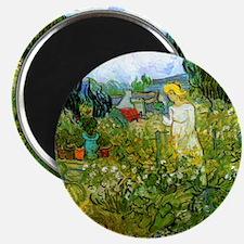 Van Gogh Marguerite Gachet in the Garden Magnet