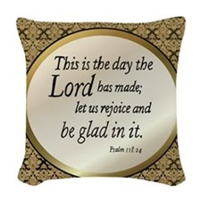Psalms Woven Throw Pillow
