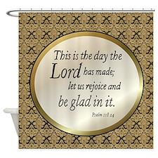 Psalms Shower Curtain