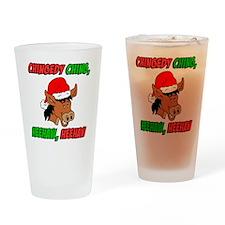 Italian Christmas Donkey Drinking Glass