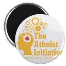 The Atheist Initiative with Red Button Magnet