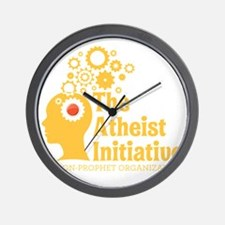 The Atheist Initiative with Red Button Wall Clock