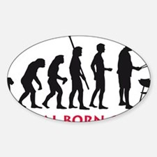 natural born griller Sticker (Oval)
