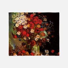 Van Gogh Flowers Throw Blanket