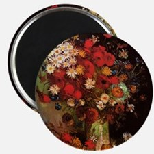 Van Gogh Flowers Magnet