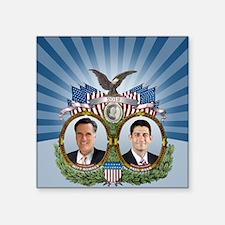 "Romney Ryan Jugate Square Sticker 3"" x 3"""