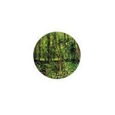 Van Gogh Trees And Undergrowth Mini Button