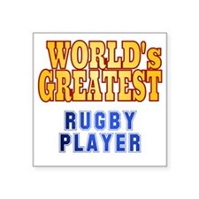 "World's Greatest Rugby Play Square Sticker 3"" x 3"""