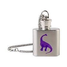 Purple Brachiosaurus Flask Necklace