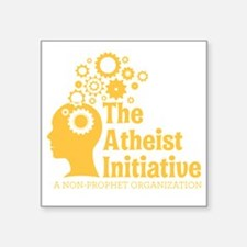"The Atheist Initiative Logo Square Sticker 3"" x 3"""