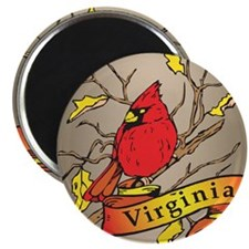 Virginia Cardinal Magnet