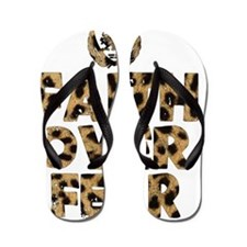 Faith Over Fear cheetah Flip Flops