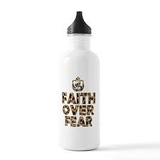 Faith Over Fear cheeta Water Bottle