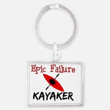 Epic Fail Kayaker Landscape Keychain