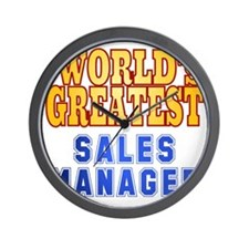 World's Greatest Sales Manager Wall Clock