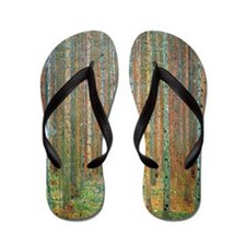 Gustav Klimt Pine Forest Flip Flops