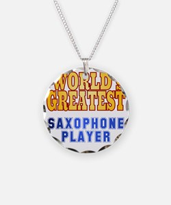 World's Greatest Saxophone P Necklace