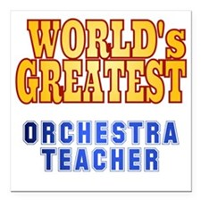 "World's Greatest Orchest Square Car Magnet 3"" x 3"""