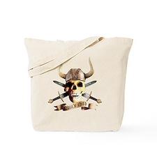 skull helmet axe, odins child Tote Bag