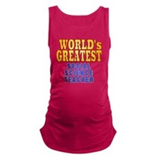 World's Greatest Social Science Maternity Tank Top