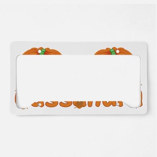 Halloween Pumpkin Cassandra License Plate Holder