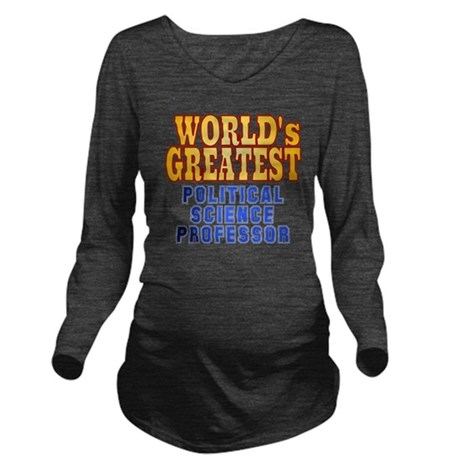World's Greatest Pol Long Sleeve Maternity T-Shirt