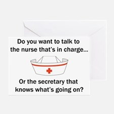 Nurse-Secretary Greeting Card