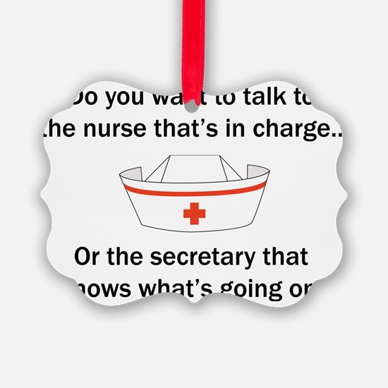 Nurse-Secretary Ornament