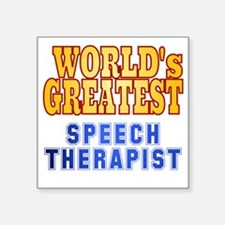 "World's Greatest Speech The Square Sticker 3"" x 3"""