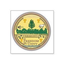 "Vermont State Seal Square Sticker 3"" x 3"""