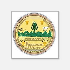 "Vermont State Seal Square Sticker 3"" x 3"""