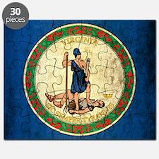 Grunge Virginia Flag Puzzle