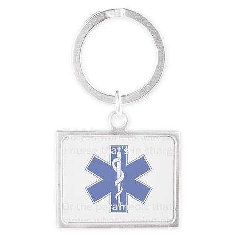 paramedic-nurse white Landscape Keychain